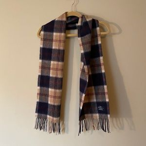 Vintage Plaid Wool Scarf